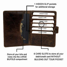 Load image into Gallery viewer, Succor Genuine Leather Passport & Card Holder for Men & Women with RFID Protection - Passport Case - Brown