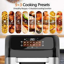 Load image into Gallery viewer, whall Air Fryer, 13QT Air Fryer Oven, Family Rotisserie Oven, 1700W Electric Air Fryer Toaster Oven, Tilt led Digital Touchscreen, 12-in-1 Presets for Baking, Roasting, Dehydrating, with Accessories