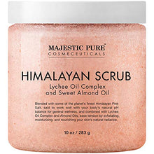 Load image into Gallery viewer, Majestic Pure Himalayan Salt Body Scrub with Lychee Oil, Exfoliating Salt Scrub to Exfoliate & Moisturize Skin, Deep Cleansing - 10 oz