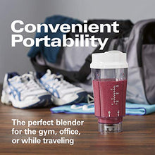 Load image into Gallery viewer, Hamilton Beach Personal Blender for Shakes and Smoothies with 14oz Travel Cup and Lid, White (51101V)