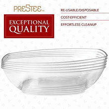 Load image into Gallery viewer, 12 Clear Plastic Serving Bowls for Parties | 64 Oz. | Oval Disposable Serving Bowls | Clear Chip Bowls | Party Snack Bowls | Plastic Candy Dish | Salad Serving Containers | Large Candy Bowls