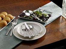 Load image into Gallery viewer, Mikasa Harmony 65-Piece 18/10 Stainless Steel Flatware Serving Utensil Set, Silver