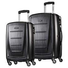 Load image into Gallery viewer, Samsonite Winfield 2 Hardside Expandable Luggage with Spinner Wheels, Brushed Anthracite, 2-Piece Set (20/24)
