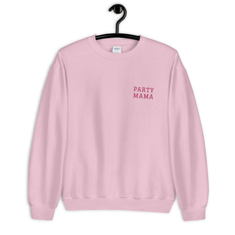 Party Mama Embroidery Sweatshirt
