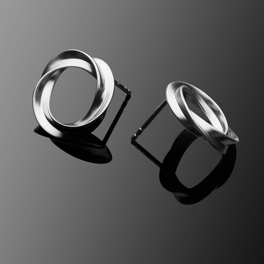 Aurora Series Handcrafted Japanese Jewelry Minimalist Earrings Sterling Silver Matte hk+np Studio