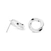 Aurora Series Handcrafted Japanese Jewelry Minimalist Earrings Sterling Silver Mirror hk+np Studio