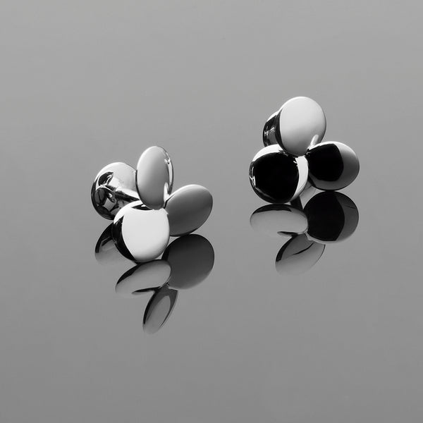 Clover Series Handcrafted Japanese Jewelry Luxury Cufflinks Sterling Silver Mirror hk+np Studio