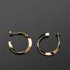 Twist Series Handcrafted Japanese Minimalist Earrings Vermeil Mirror hk+np Studio
