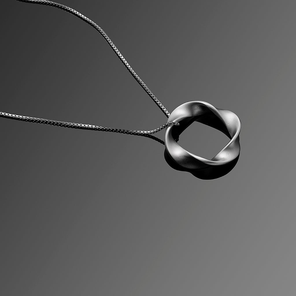 Twist Series Handcrafted Japanese Jewelry Pendant Necklace Sterling Silver Matte hk+np Studio