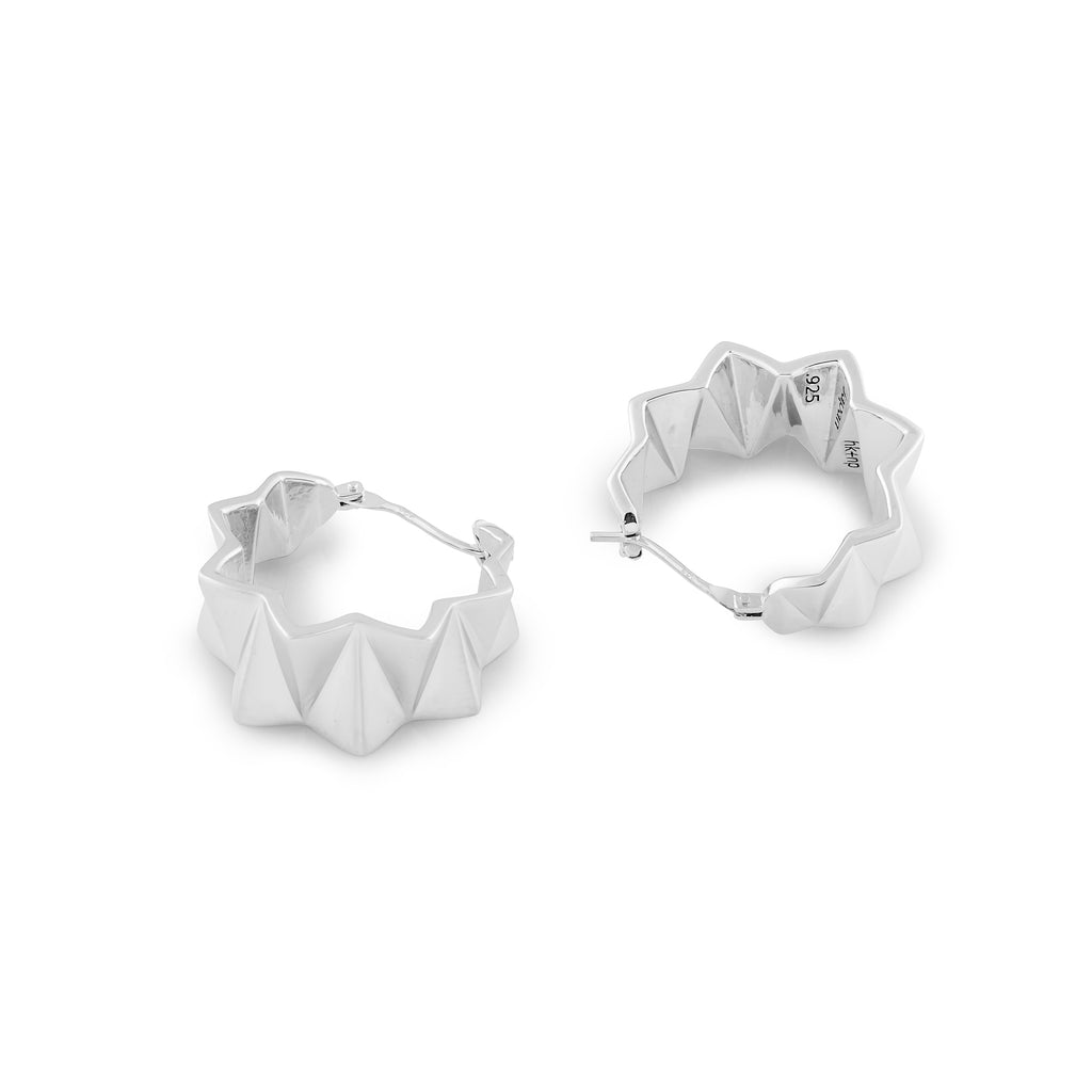 Zigzag Series Handcrafted Japanese Jewelry Minimalist Earrings Sterling Silver Matte hk+np Studio