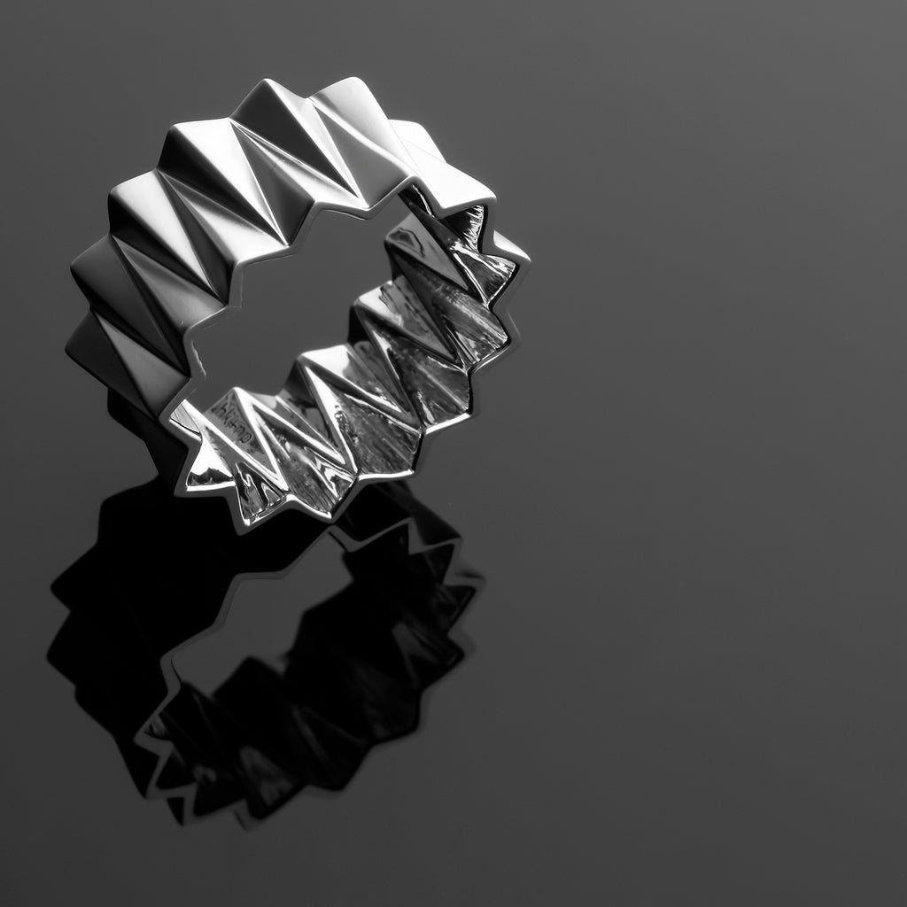 Zigzag Series Handcrafted Japanese Jewelry Minimalist Ring Sterling Silver Matte hk+np Studio
