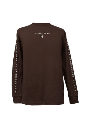 """TAILLEUR DE RUE"" Chocolate Long Sleeve"