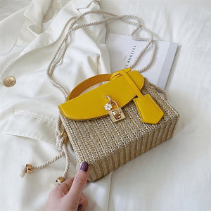 Moira Small Straw Tote Purse