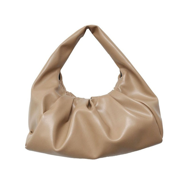 Lylah Soft Leather Shoulder Bag