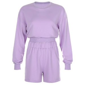 Dara Sweatshirt Crop Top Lounge Wear