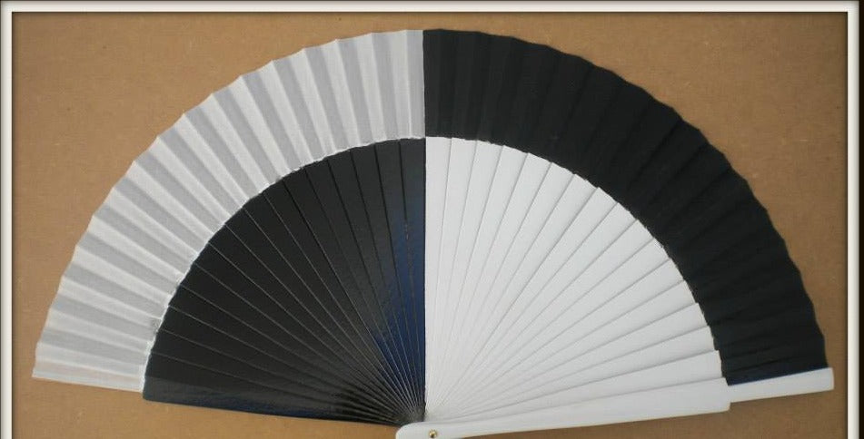 Black White 50 50 Standard Fan MTO
