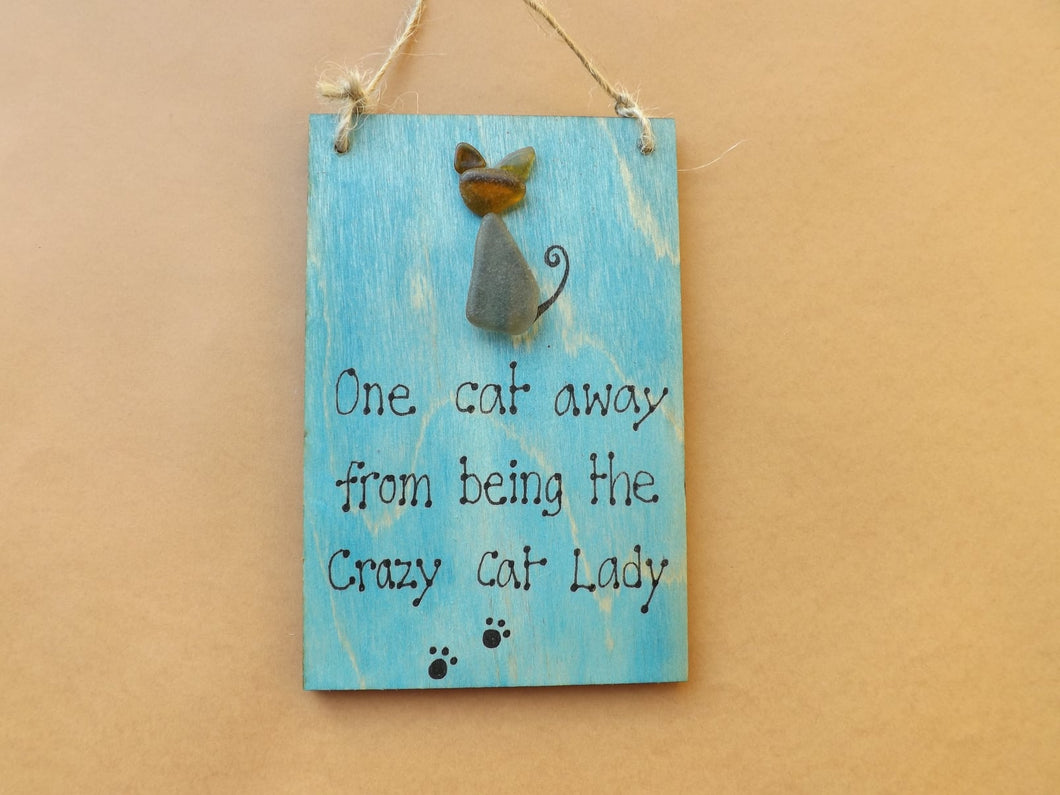 Crazy Cat Lady Wooden Plaque MTO