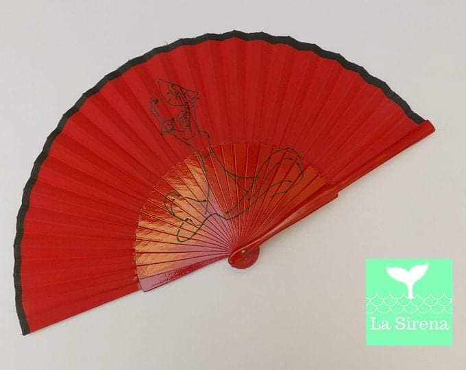 Flamenco Dancer Red Standard Fan RTG
