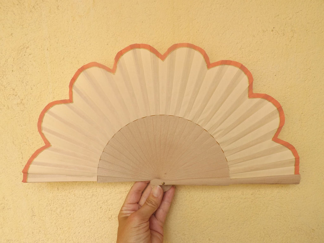Coral Flower Cream Standard Fan MTO
