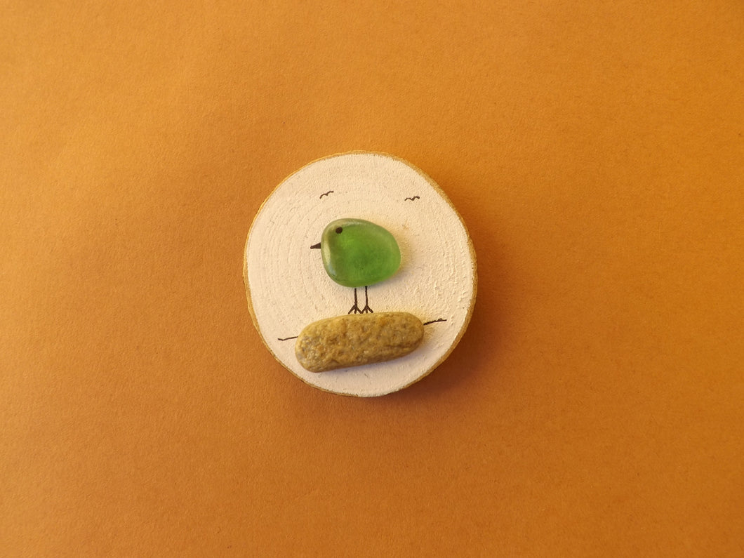 Birdie Mini Wood Slice Magnet MTO