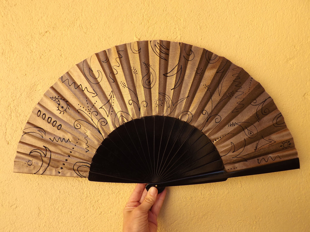 Gold and Black Supersize XL Fan MTO