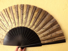 Load image into Gallery viewer, Gold and Black Supersize XL Fan MTO