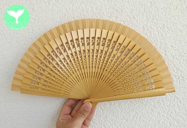 Gold Fret Plain Small Fan MTO