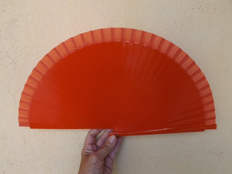 Orange Plain Standard Fan MTO