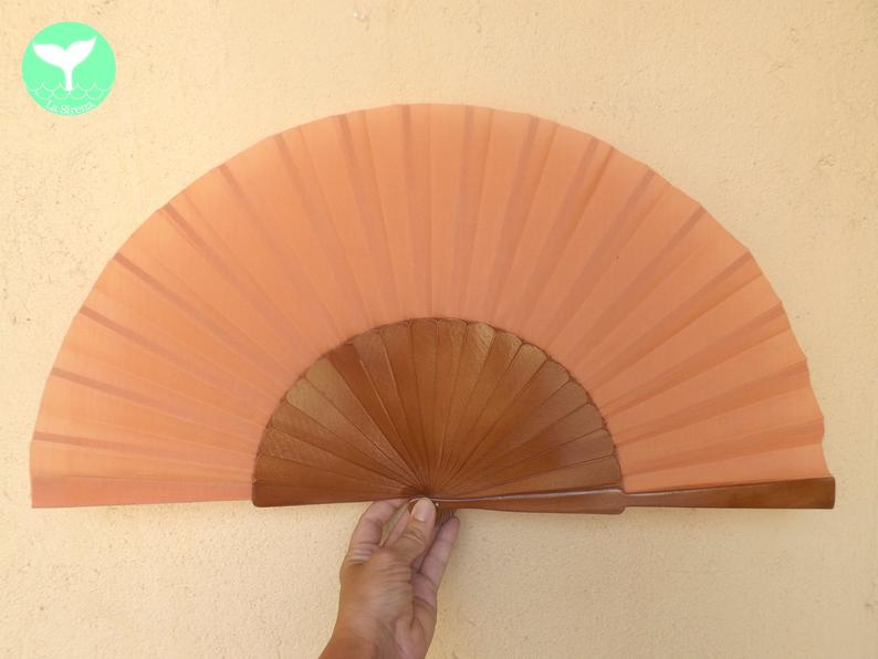 Light Brown Plain Supersize XL Fan MTO