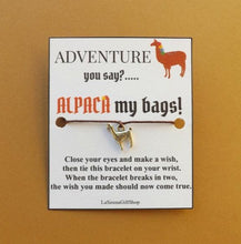 Load image into Gallery viewer, Alpaca Adventure Wish Bracelet MTO
