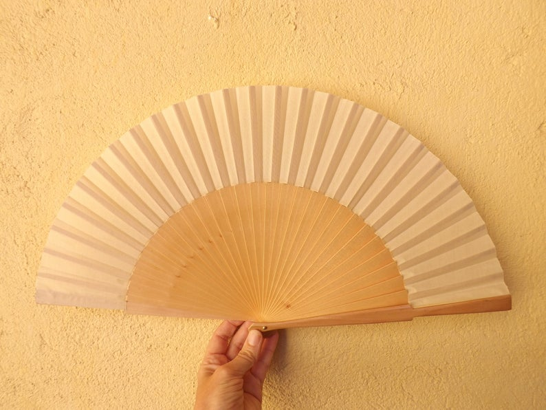 Natural Plain Large Fan MTO