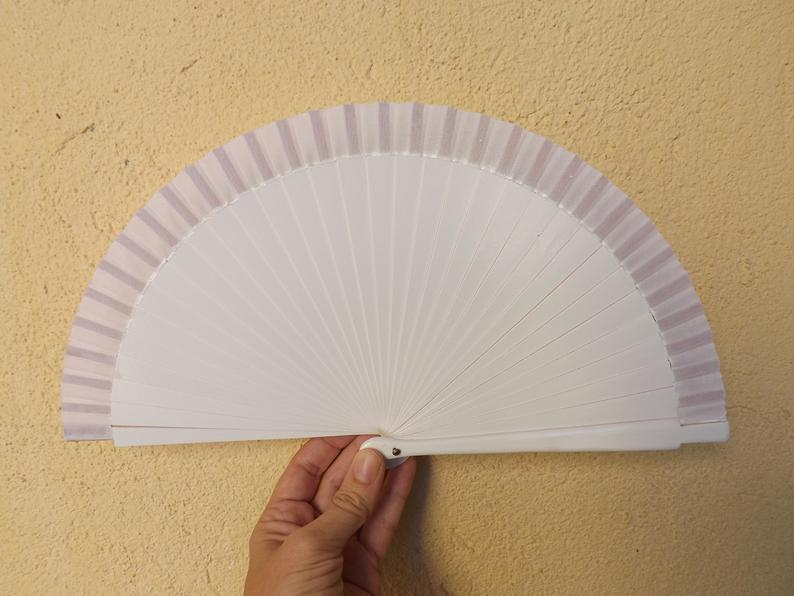 White Plain Tiny Fan MTO