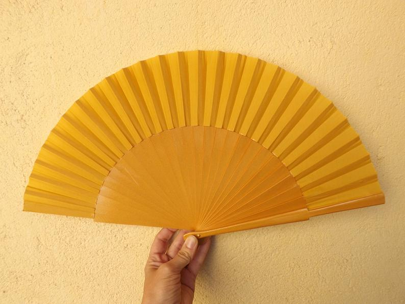 Golden Yellow Plain Large Fan MTO