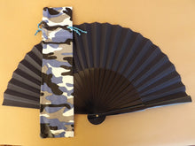 Load image into Gallery viewer, Camouflage Blue Leatherette Hand Fan Bag StandardRTG