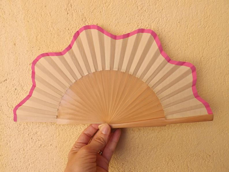Natural Pink Scallop Small Fan MTO