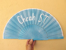 Load image into Gallery viewer, Baby Blue Custom Painted Supersize XL Fan MTO