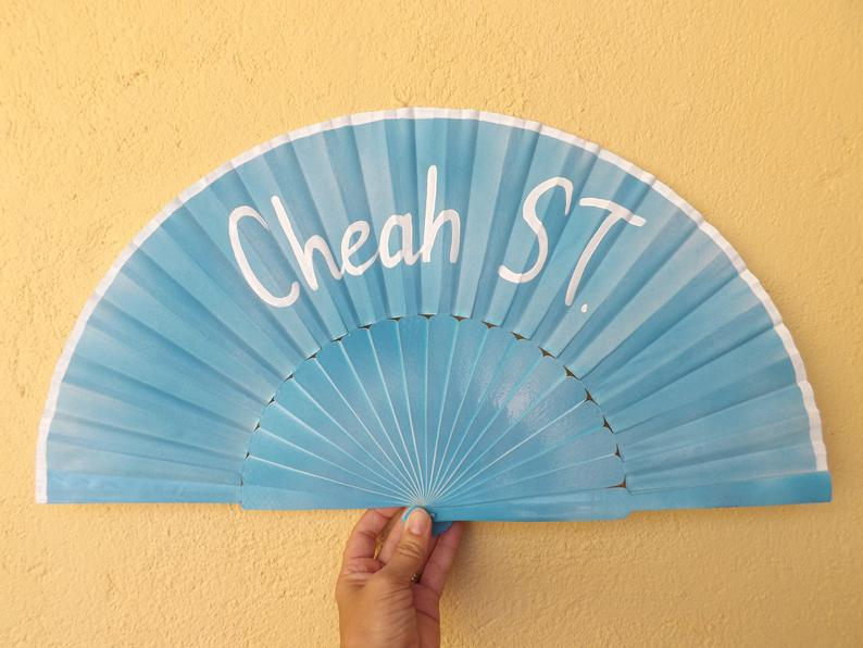 Baby Blue Custom Painted Supersize XL Fan MTO