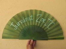 Load image into Gallery viewer, Olive Green Custom Painted Supersize XL Fan MTO