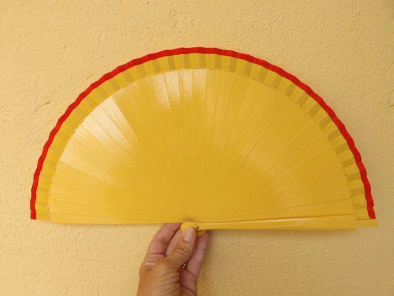 Yellow Red Standard Fan MTO