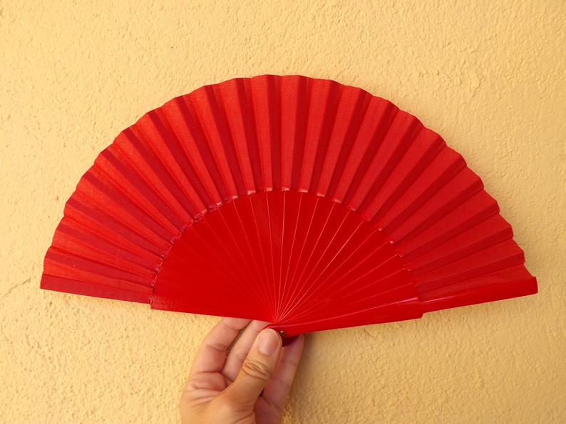Red Plain Small Fan MTO