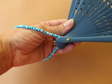 Load image into Gallery viewer, Beaded Fan Strap Bright Blue RTG