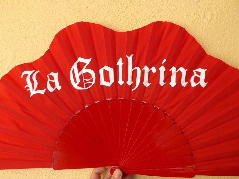 Red Custom Painted Supersize XL Fan MTO