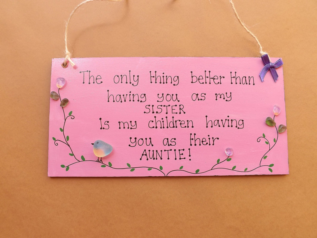 Sister Auntie Personalised Wooden Plaque MTO