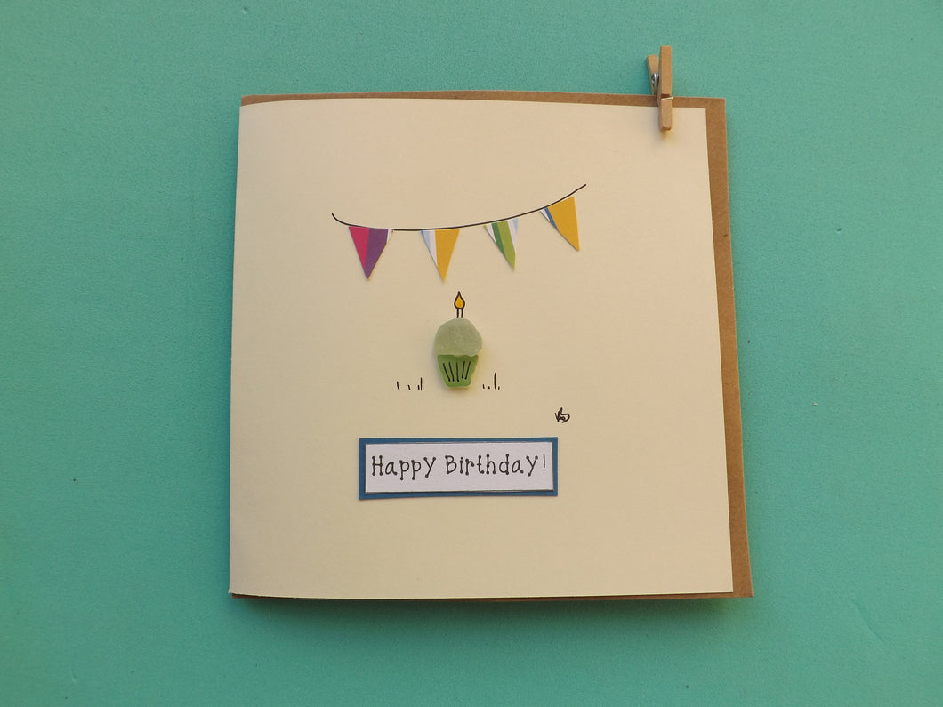 Cupcake Bunting Greetings Card MTO