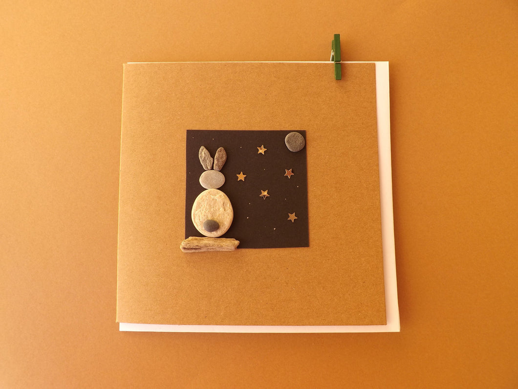 Bunny Moon Greetings Card MTO