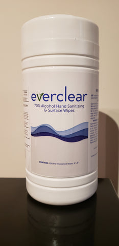 Everclear 70% Alcohol Hand Sanitizing and Surface Wipes- 200 Count Canister