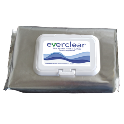 Everclear 70% Alcohol Hand and Surface Wipes Soft Pack - Made in USA
