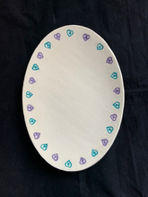Load image into Gallery viewer, Oval Plate with Stars n Hearts