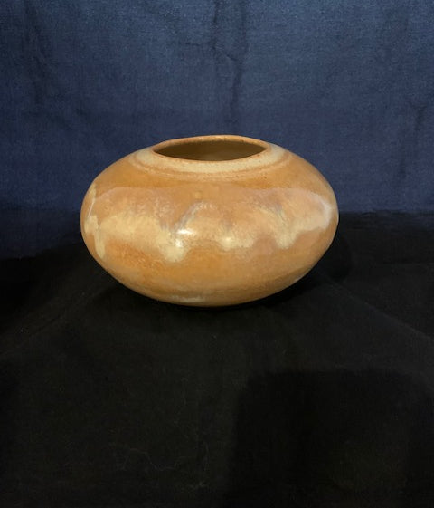 Small Vase in Beige and Tan
