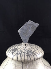Load image into Gallery viewer, Raku Urn With Stone Finial